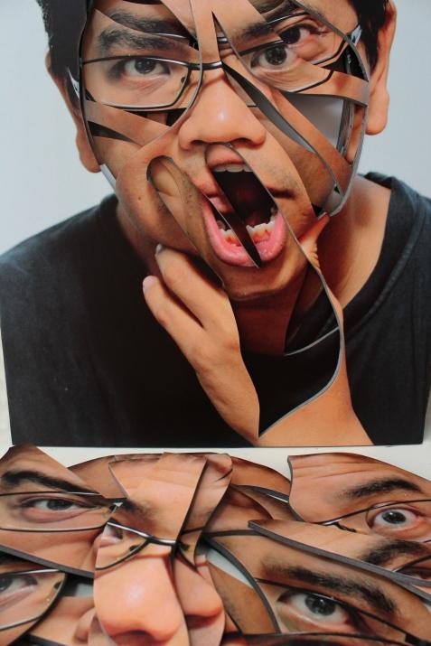 Defaced Self-Portrait (2014) k